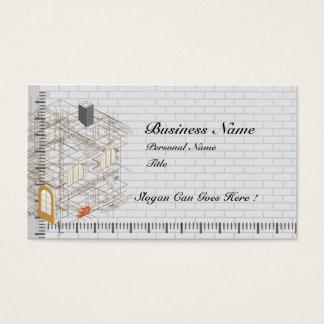 Tarjeta de visita del negocio de la arquitectura