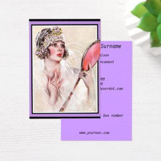 Tarjeta de visita del negocio del salón de belleza