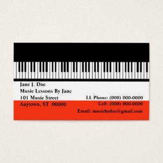 Tarjeta de visita del órgano de los teclados del