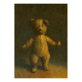 Tarjeta de visita del oso de peluche del zombi