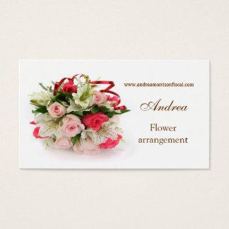 Tarjeta de visita del perfil de los rosas y de los