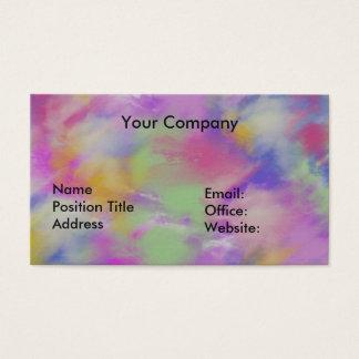 Tarjeta de visita del personalizar, colorida