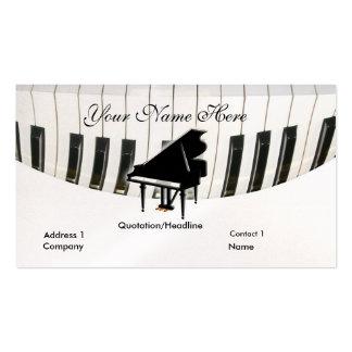 Tarjeta de visita del piano de cola y del teclado