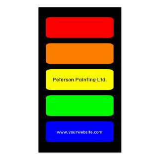 Tarjeta de visita del pintor