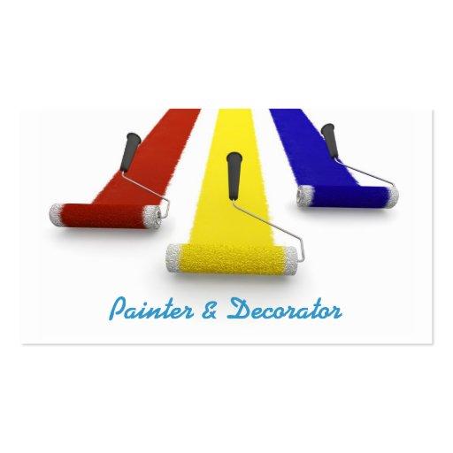 Tarjeta de visita del pintor y de los decoradores