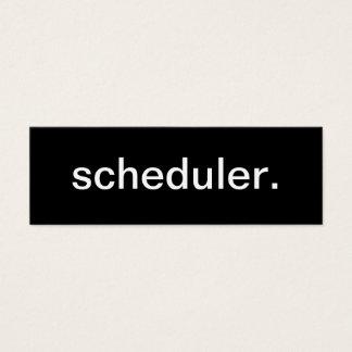 Tarjeta de visita del planificador