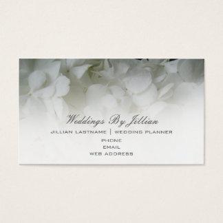 Tarjeta de visita del planificador del boda -