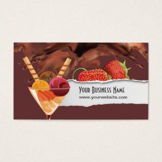 Tarjeta de visita del postre del helado y del