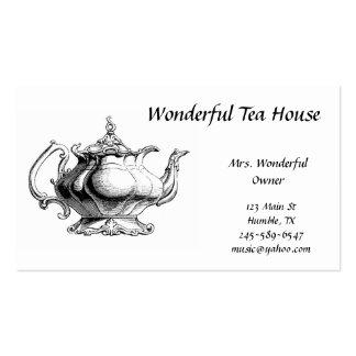 Tarjeta de visita del pote del té del vintage