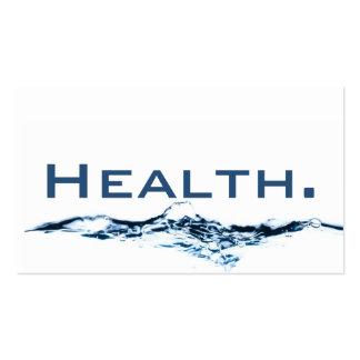 Tarjeta de visita del profesional de salud H2O No.