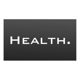 Tarjeta de visita del profesional de salud moderna