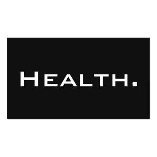 Tarjeta de visita del profesional de salud No 4 mo