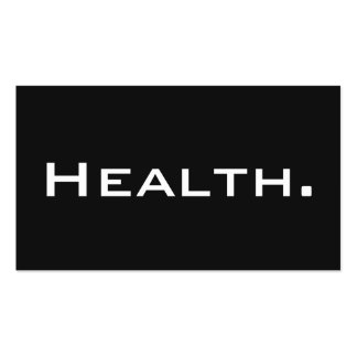 Tarjeta de visita del profesional de salud No.4 mo