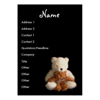 Tarjeta de visita del profesor de los osos de