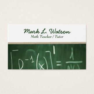 Tarjeta de visita del profesor de matemáticas