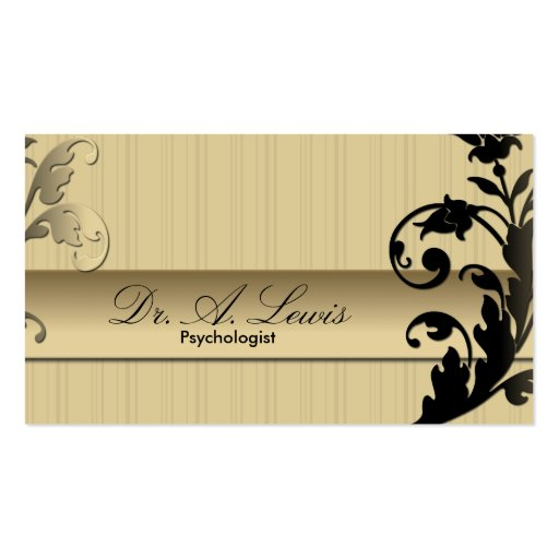Tarjeta de visita del psicólogo y del psiquiatra -