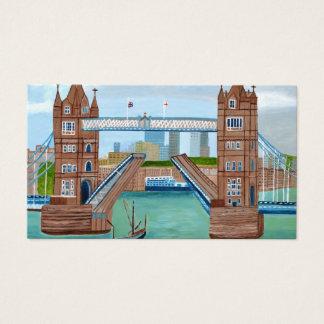 Tarjeta de visita del puente de Londres
