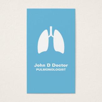 Tarjeta de visita del pulmonologist del