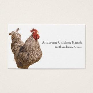Tarjeta de visita del ranchero del pollo