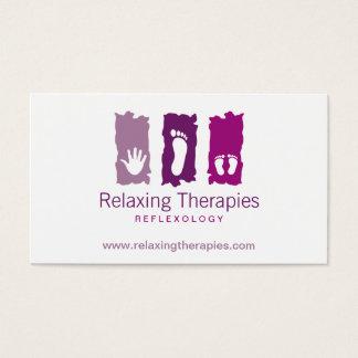 Tarjeta de visita del Reflexology