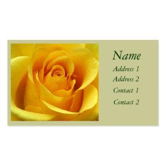 Tarjeta de visita del rosa amarillo