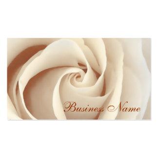 Tarjeta de visita del rosa blanco