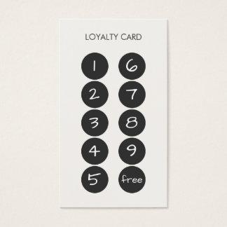 Tarjeta de visita del sacador de la lealtad