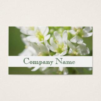 Tarjeta de visita del salón de las flores blancas