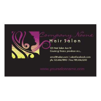 tarjeta de visita del salón de pelo