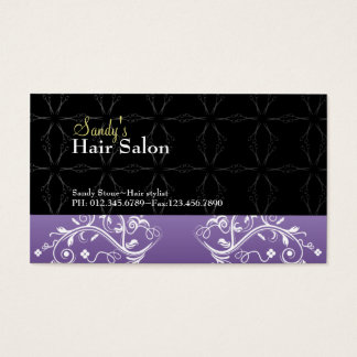 Tarjeta de visita del salón de pelo y tarjeta de