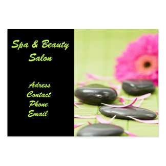 Tarjeta de visita del salón de Spa&Beauty