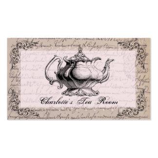Tarjeta de visita del sitio del té de la tetera de