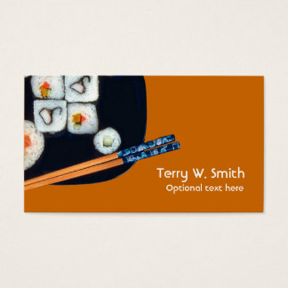 Tarjeta de visita del sushi