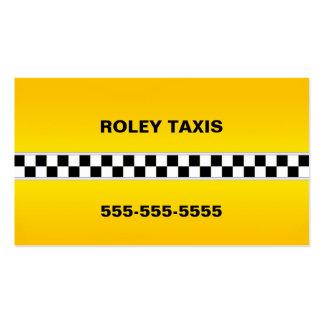 Tarjeta de visita del taxi