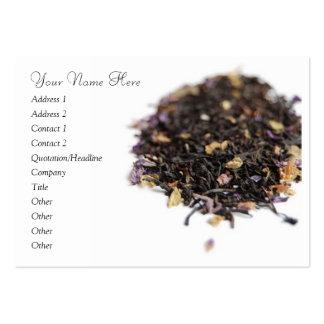 Tarjeta de visita del té de Loosleaf