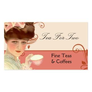Tarjeta de visita del té o del café del vintage