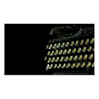 Tarjeta de visita del teclado de máquina de escrib