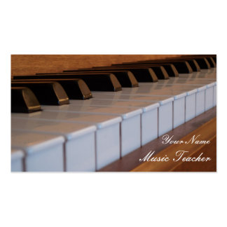 Tarjeta de visita del teclado de piano