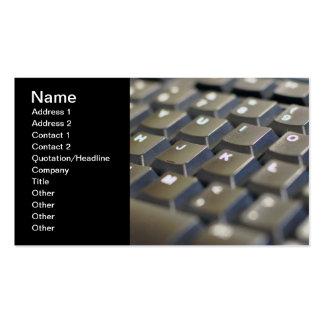 Tarjeta de visita del teclado