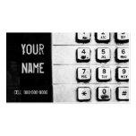 tarjeta de visita del telclado numérico del grunge