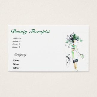 Tarjeta de visita del terapeuta de la belleza