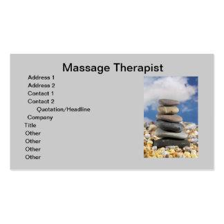 Tarjeta de visita del terapeuta del masaje