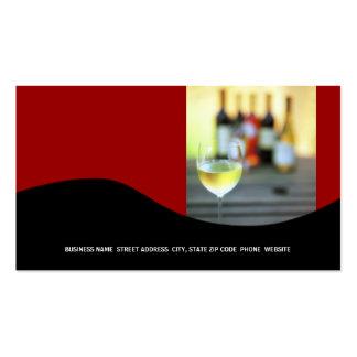 Tarjeta de visita del vino roja