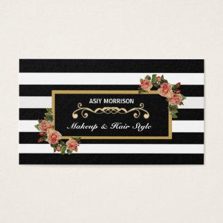 Tarjeta de visita del vintage del salón de belleza