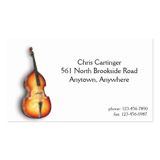 Tarjeta de visita del violín bajo
