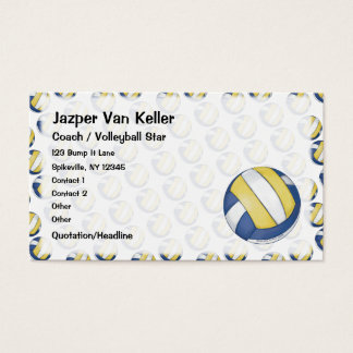 Tarjeta de visita del voleibol
