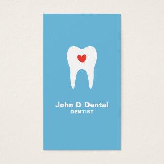 Tarjeta de visita dental azul del dentista del