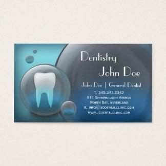 Tarjeta de visita dental de la burbuja blanca