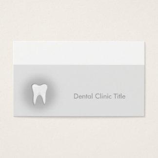 Tarjeta de visita dental de la clínica