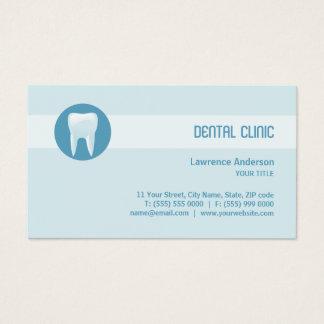 Tarjeta de visita dental de la clínica/del